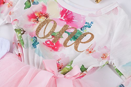 f0fbdc6ee42 Special Occasion – Grace   Lucille Pink Floral Long Sleeve Baby Birthday  Dress (Gold