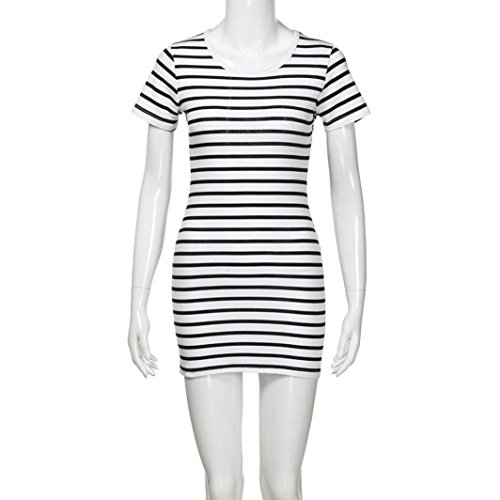 c733e45ccc1 Special Occasion – Kehen Parent-Child Shirt Dress Family Clothes Outfits  Mommy and Me Matching Dress Short Sleeve Striped Summer Dress (White(Mom)