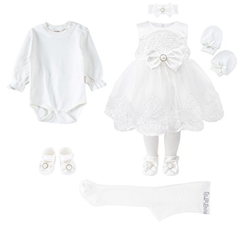 834ed8a1d Special Occasion – Taffy Baby Girl Christening Baptism Embroidered White Dress  Gown 6 Piece Deluxe Set 0-3 Months