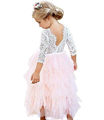 957432f353 Special Occasion – Toddler Baby Flower Girls Princess Tulle Dress Lace  Backless Tutu A-line Beaded Party Dresses Pink Offers