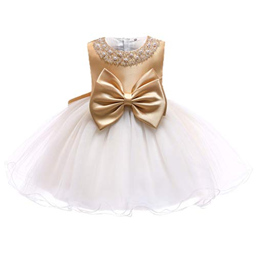 bf20d654b Special Occasion – TUOKE Infant Baby Girl Formal Bridesmaid Birthday Ball Gown  Sleeveless Ruffles Dress Gold 12M Offers