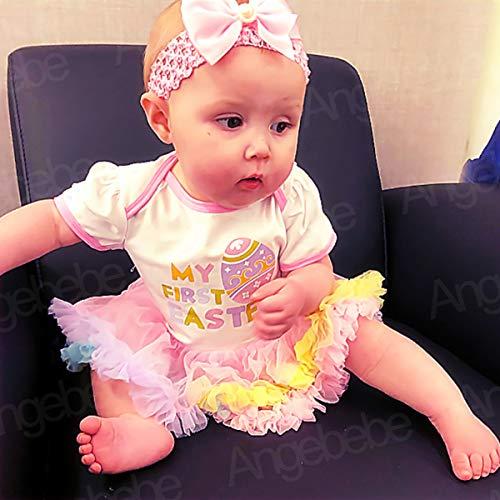 f0795c029e Bodysuits – Baby Girls  Easter Tutu Lace Bodysuit Dress with Headband  (Multicolor