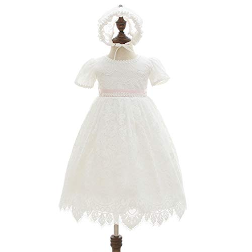 6a16305c279 Special Occasion – Baby Girls Embroidered Empire Waist Christening Gown  Baptism Dress with Lace Bonnet Ivory Size 3M