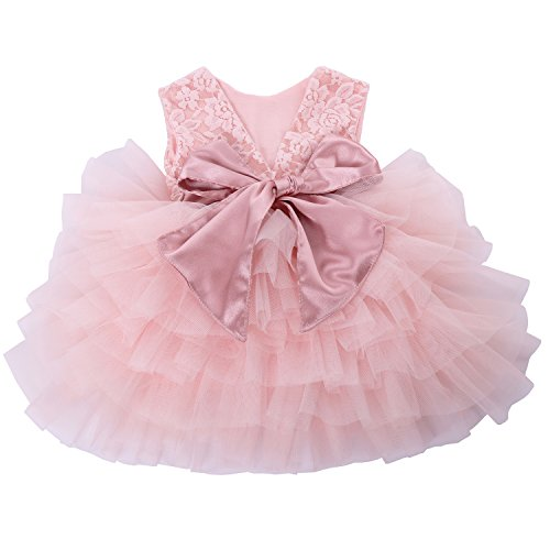 e19b2346537 Special Occasion – Cilucu Baby Girls Dress Toddler Kids Party Dress Tutu  Pageant Lace Dresses Gown for Flower Girl Baby Birthday Pink Peach 2T-3T  Offers