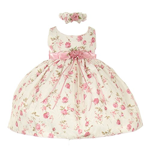 b040a857b93 Special Occasion – Cinderella Couture Baby Girls Pink Rose Printed ...