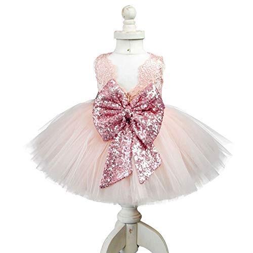 30668b594f4 Special Occasion – EsTong Newborn Baby Girls Sequins Bowknot Floral Princess  Dresses Tulle Tutu Outfit Clothes Pink 1-2Y Offers
