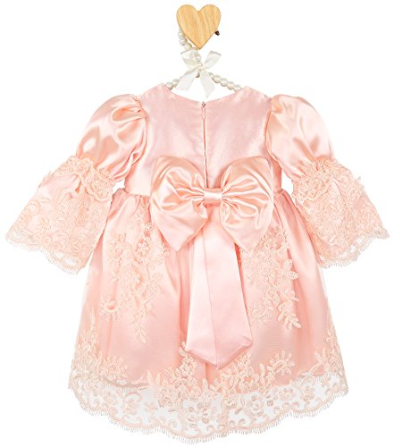 bc23dcd26c1 Special Occasion – Lilax Baby Girl Newborn Peach 3 4 Sleeve Lace Princess  Dress Gown 4 Piece Deluxe Set 3-6 Months Offers