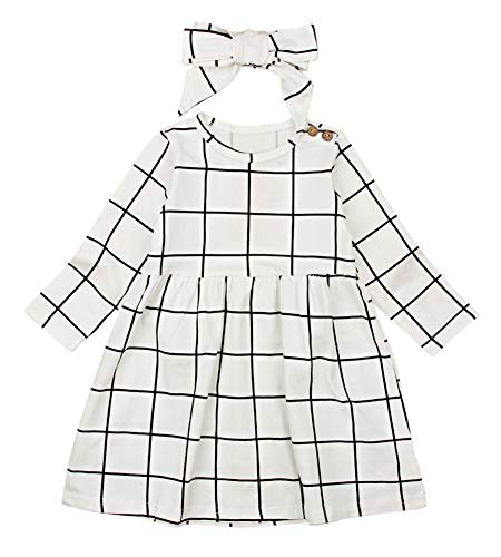 e181eaf87e0 Today that you are reading considered one of my post concerning Miward  Little Kids Baby Girl Dresses White and Black Plaid Tutu Skirt ...