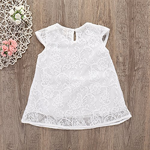 05700ef3b1d Special Occasion – Newborn Baby Girls Lace Short Sleeve Princess Dress  (White