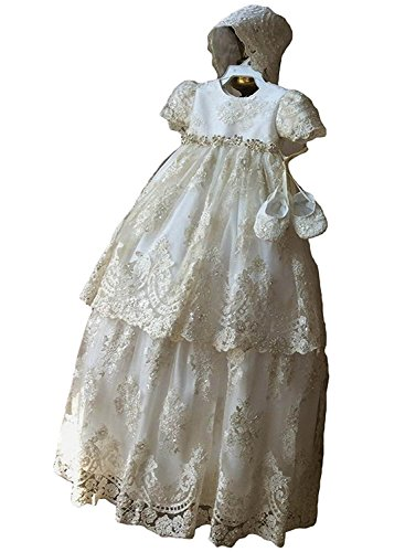 a8aea138a2 Special Occasion – Newdeve Long Baptism Dresses for Baby Girls Christening Gowns  Toddler with Bonnet Offers
