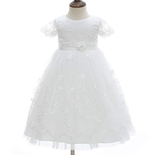 2c033f1a5 Special Occasion – Silver Mermaid Elegant Baby Girls Christening Dress Lace  Baptism Gown Christening Robe(6M,White) Offers