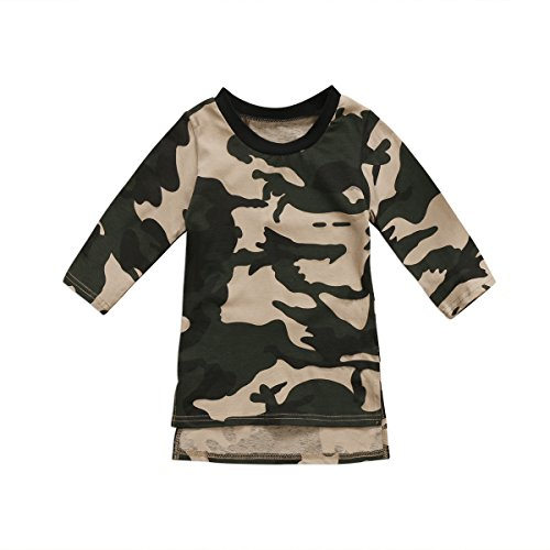 a96373c4511f1 Playwear – Tomblin Toddler Infant Girls Camo-Camouflage Long Sleeve  Crewneck T Shirts Dress (120(for 2-3T baby), camo) Offers