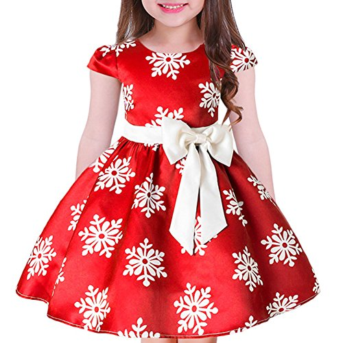 afdb575ce Special Occasion – Tueenhuge Baby Girls Christmas Dress Toddler Snowflake  Print Party Wedding Formal Dresses (Red, 3-4 Years)