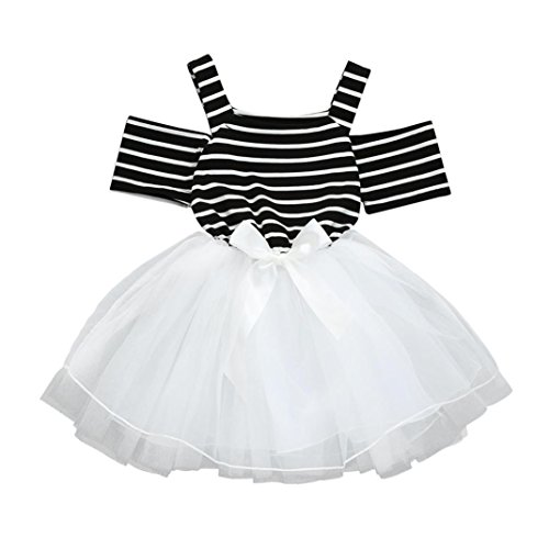 b1a60d74f Special Occasion – Vincent&July Toddler Baby Girls Summer White Black Stripe  Off Shoulder Tutu Tulle Dresses (3T(2-3Years Old)) Offers