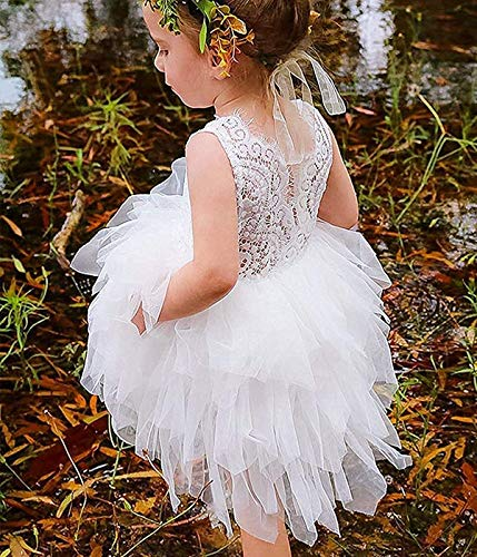 3b40826b28689 Special Occasion – YOUNGER TREE Toddler Kids Baby Girls Dress Sleeveless  Sequins Bow-Knot Party Wedding Prom Princess Lace Tutu Tulle Outfits  (White, ...