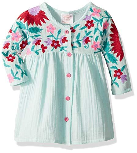 db9dce61f Playwear – Masala Baby Girls Organic Baby Aasha Dress Aqua, 3-6M